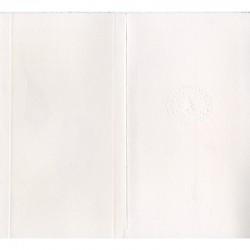 extérieur d'une carte de vœux de 1995 de Françoise Petrovitch avec timbre à sec