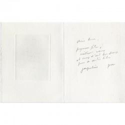 Message autographe de Jean Le Gac à Anne Dagbert