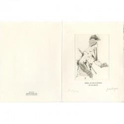Carte de voeux de Jean Le Gac vue ouverte