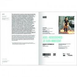 double page du livre d'Adel Abdessemed avec Jérôme Sans