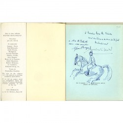 Belle dédicace illustrée d' Yves Brayer et de Maximilien Gauthier