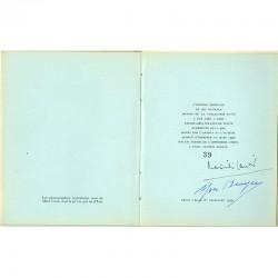 Colophon, avec signatures de l'artiste et de l'auteur, du livre sur Yves Brayer par Maximilien Gauthier