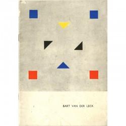 couverture du catalogue d'une exposition sur Bart Van der Leck, au Stedelijk Museum