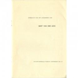 page de titre du catalogue Bart Van der Leck, exposition en 1949 au Stedelijk Museum
