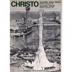 che de l'exposition Christo chez Joan Prats, 1977