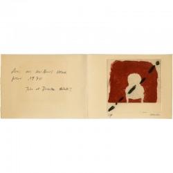 Carte de vœux pour 1970 de Jules et Doroteo Arnaiz adressée à Raoul Jean Moulin