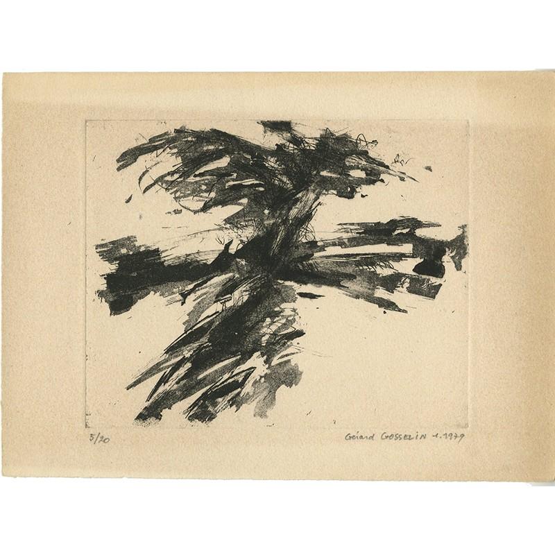 Recto d'une gravure numérotée de Gérard Gosselin, 1979