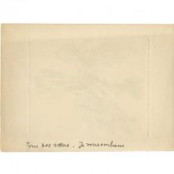 Vœux de 1979 de Gérard Gosselin, au dos d'une gravure numérotée