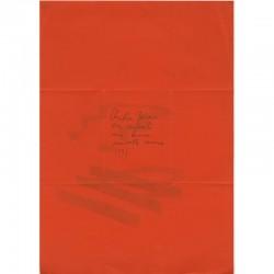 Verso des voeux de Christian Jaccard avec son message de bonne année