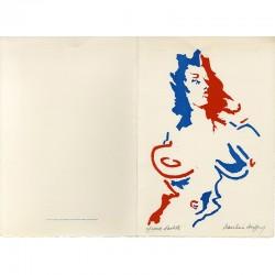 Carte de vœux de Jean-Pierre Jouffroy pour la Fédération du Val de Marne du Parti Communiste, 1989