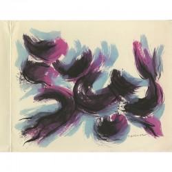 Lithographie en 3 couleurs de Luichy Martinez