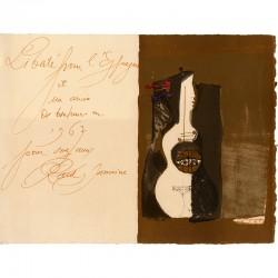 Lithographie originale sur vélin de José Ortega