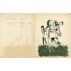 carte de vœux pour l'année 1976 de Camilo Otero