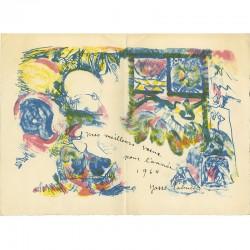 carte de vœux pour l'année 1964 de Yasse Tabuchi