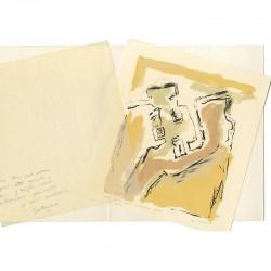 Lithographie de Catherine Viollet pour sa carte de vœux de 1993