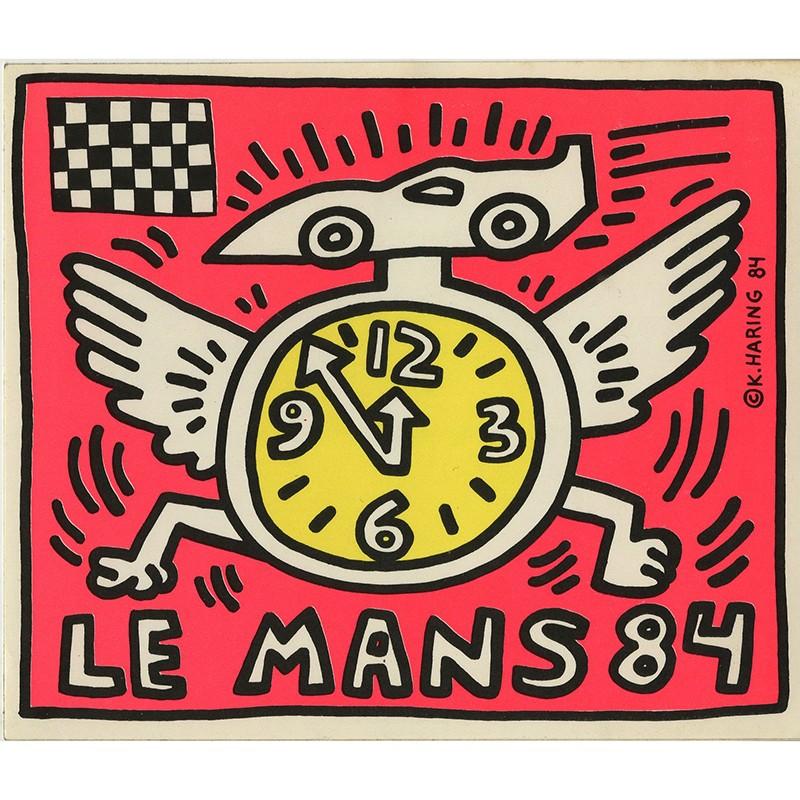 Autocollant de Keith Haring édité à l'occasion de la course automobile des 24 heures du Mans 1984