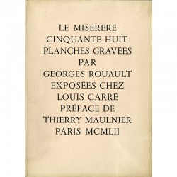 "Catalogue Georges Rouault ""Le Miserere"" galerie Louis Carré, 1952"