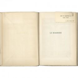 carte de la galerie Louis Carré dans le catalogue de Georges Rouault