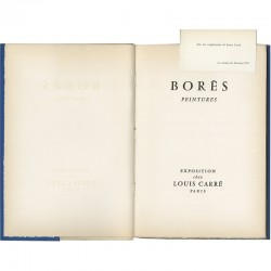 Page de titre du catalogue Borès 1957