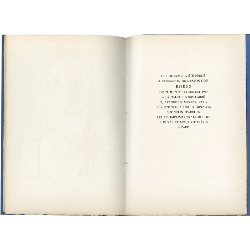 Colophon du catalogue de la galerie Louis Carré consacré à Borès