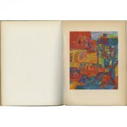 Planche en couleur dans le catalogue de la galerie Louis Carré consacré à Bazaine, Estève et Lapicque