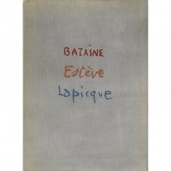"""Catalogue """"Bazaine, Estève et Lapicque"""" galerie Louis Carré, 1945"""
