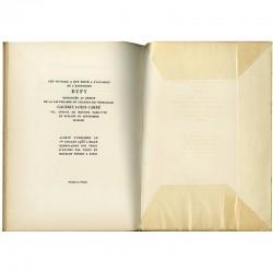 """Colophon du catalogue de la galerie Louis Carré consacré à """"Dufy"""" en 1953"""