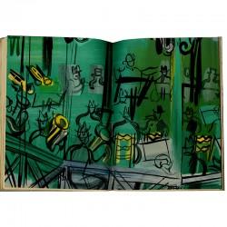 Lithographie en double page dans le catalogue Dufy,  à l'occasion de l'exposition à la galerie Louis Carré