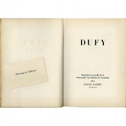 Page de titre du catalogue Dufy, édité par la galerie Louis Carré