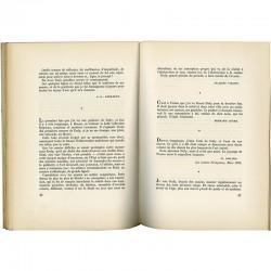 Une page des textes sur Dufy, catalogue, Galerie Louis Carré