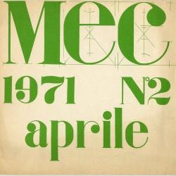 Couverture de la revue MEC entièrement réalisée par Gianni Bertini