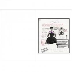Double page du livre d'artiste de Lawrence Weiner et  Luc Vezin
