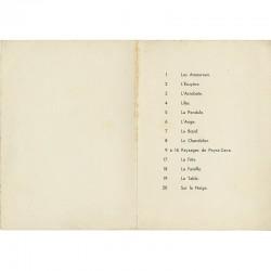 liste des tableaux dans l'exposition Chagall, organisée par Marcelle Berr de Turique