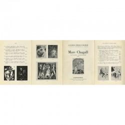 Plaquette accompagnant l'exposition de Chagall, à la Galerie Gérald Cramer, Genève, 1958