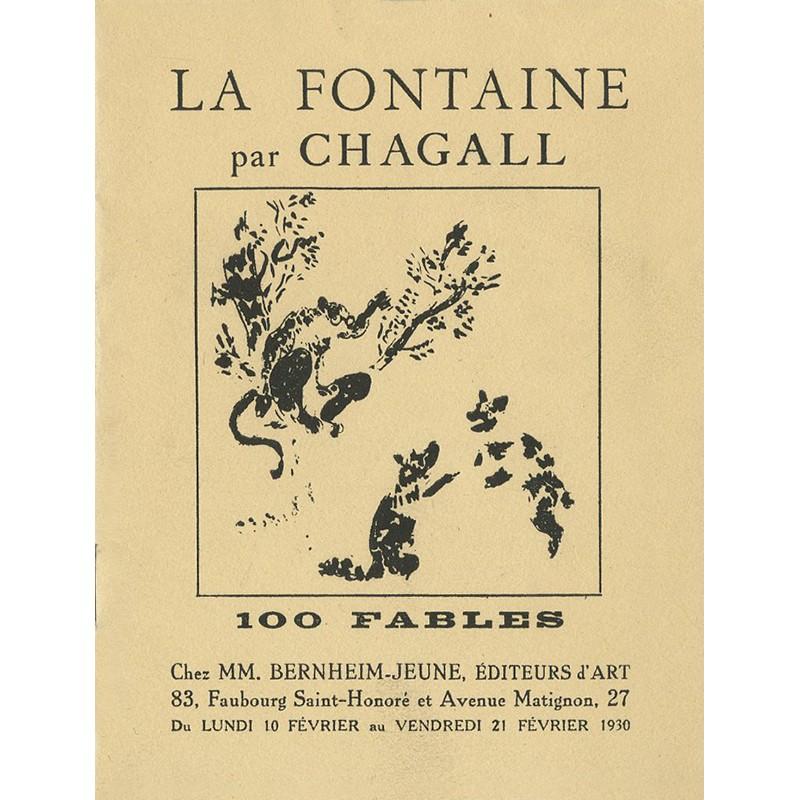 Catalogue de l'exposition des 100 gouaches de Marc Chagall sur les fables de Jean de La Fontaine