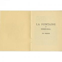 Page de titre du catalogue Chagall de la Galerie Bernheim-Jeune