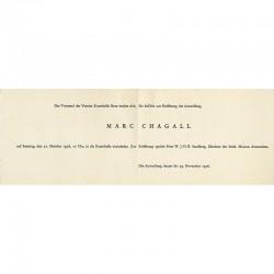 Pour le vernissage de l'exposition Chagall, Kunsthalle de Berne, 1956