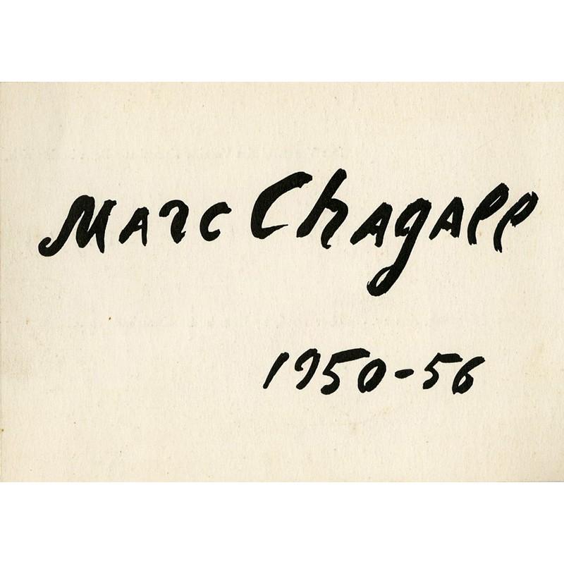 Carton de l'exposition de Marc Chagall, Kunsthalle Bern, 1956