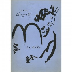 Catalogue des lithographies de Chagall illustrant La Bible, galerie Gérald Cramer