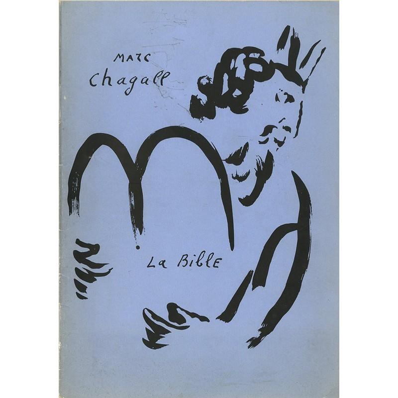 Catalogue des lithographies de Chagall illustrant La Bible, galerie Gérald Cramer