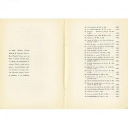 Nomenclature des lithographies sur La bible de Marc Chagall, galerie Gérald Cramer
