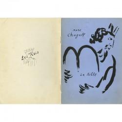 couverture du catalogue des lithographies de La Bible, réalisées par Marc Chagall pour Tériade
