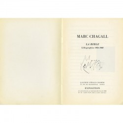 """Page de titre du catalogue """"Chagall, La Bible"""" de la galerie Gérald Cramer"""