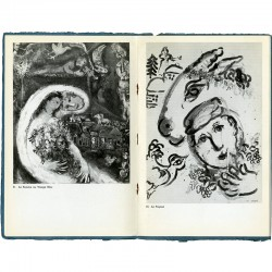 Double page du catalogue de l'exposition Marc Chagall, Perls Galleries, New York 1965