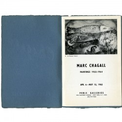 Page de titre du catalogue de Perls Galleries, pour l'exposition Marc Chagall, en 1965