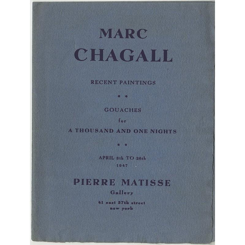Dépliant de l'exposition consacrée à Marc Chagall à la galerie Pierre Matisse en 1947