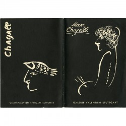 """couverture du catalogue """"Marc Chagall"""", exposition à la Galerie Valentien, Stuttgart 1958"""