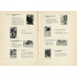 90 gravures et lithographies de Chagall toutes illustrées d'une vignette en NB, Galerie Valentien