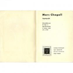 page de titre du catalogue de Marc Chagall, Galerie Valentien, Stuttgart 1958