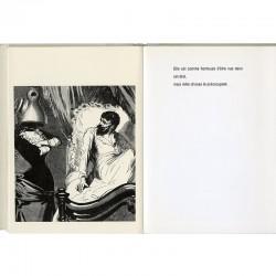 """Double page de l'ouvrage """"La femme et ses bêtes"""", poèmes et collages de Cozette de Charmoy"""